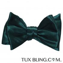 Hunter Green Silk Bowtie-Tie Yourself