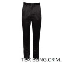 BLACK SATIN PANTS