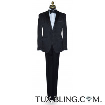Black Tuxedo with White Pin Dot Ensemble