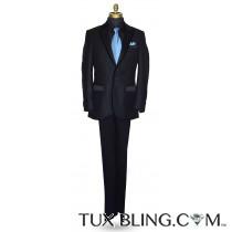 Black Tuxedo with Velvet Trim Ensemble