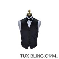 Black Satin Tuxedo Vest