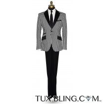 Black with White Check Tuxedo Ensamble