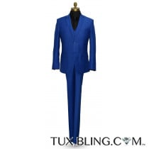 Men'sRoyal Blue 3 Piece Suit