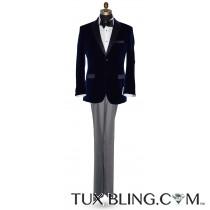 Men's Blue Velvet Tuxedo Jacket