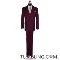 Sangria 3 Piece Suit -Coat, Pants and Vest Ensemble