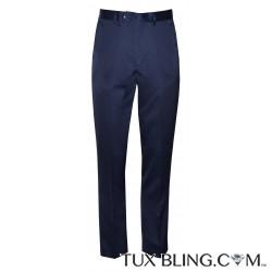 NAVY BLUE SATIN PANTS
