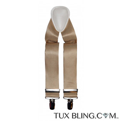 GOLDEN SATIN SUSPENDERS