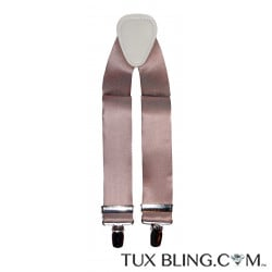 ROSE-GOLD SATIN SUSPENDERS