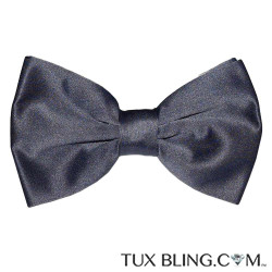 CHARCOAL BOWTIE, PRE-TIED