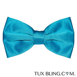 TURQUOISE BOWTIE, PRE-TIED