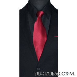 APPLE RED SILK DRESS TIE