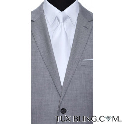 WHITE DRESS TIE CLASSIC-LOW SHEEN