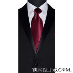 BURGUNDY-WINE SILK DRESS TIE