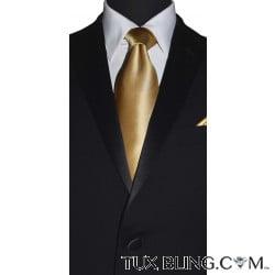 GOLD SILK DRESS TIE
