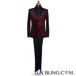 Red Medallion Velvet Ensemble