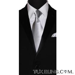 STERLING-GRAY SILK DRESS TIE