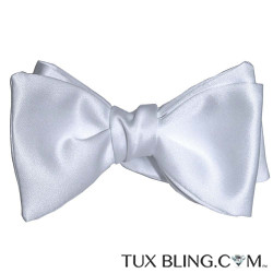 White Satin Bowtie-Tie Yourself