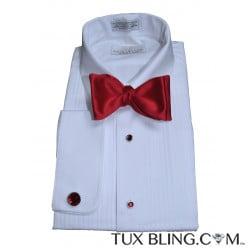 Red Satin Bowtie-Tie Yourself