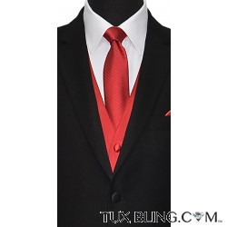 RED DRESS TIE WITH SHADOW STRIPE, TIE-YOURSELF