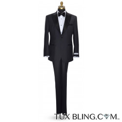 CHARCOAL PEAK LAPEL TUXEDO ENSEMBLE