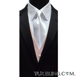 WHITE SATIN DRESS TIE CLASSIC-HI SHEEN