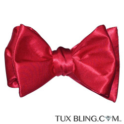 RED SILK BOWTIE - TIE YOURSELF