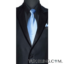 LIGHT BLUE SILK DRESS TIE