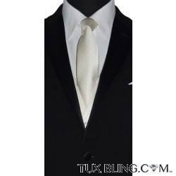 OFF-WHITE DRESS TIE WITH SUBTLE STRIPE - TIE YOURSELF