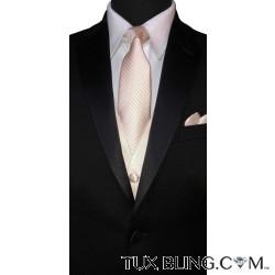 NUDE DRESS TIE WITH SUBTLE STRIPE, TIE-YOURSELF