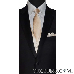 CHAMPAGNE TIE WITH SUBTLE STRIPE, TIE-YOURSELF