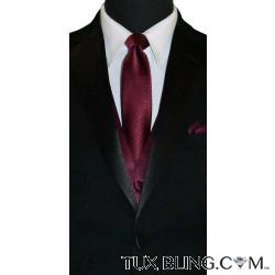 WINE DRESS TIE WITH SUBTLE STRIPE-TIE YOURSELF