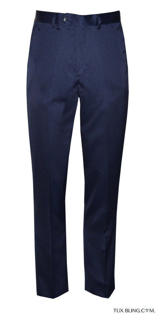 NAVY BLUE SATIN PANTS