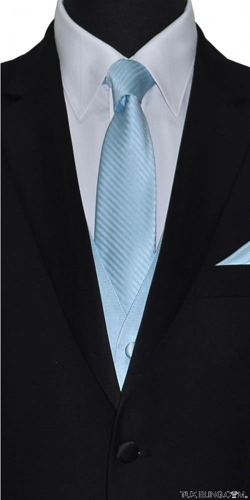 men's capri blue long tie by San Miguel Formals
