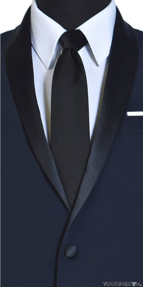BLACK SILK SATIN GROSGRAIN DRESS TIE