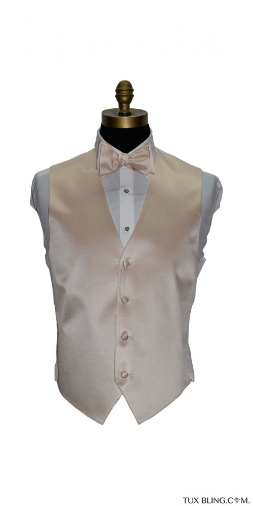 men's and boy's nude vest and nude bowtie by San Miguel Formals