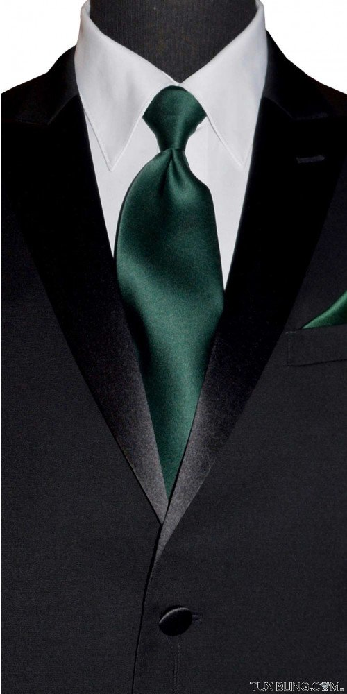 HUNTER GREEN DRESS TIE