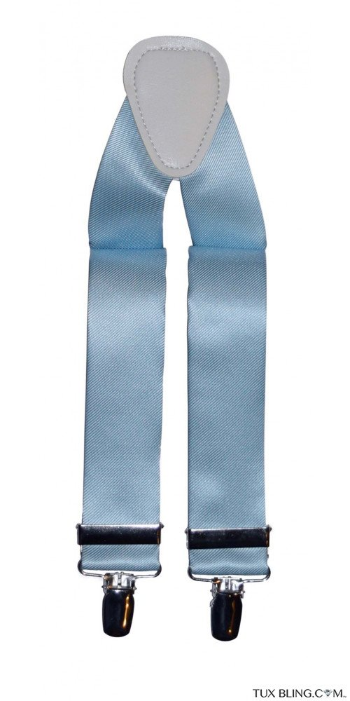 CAPRI BLUE SATIN SUSPENDERS