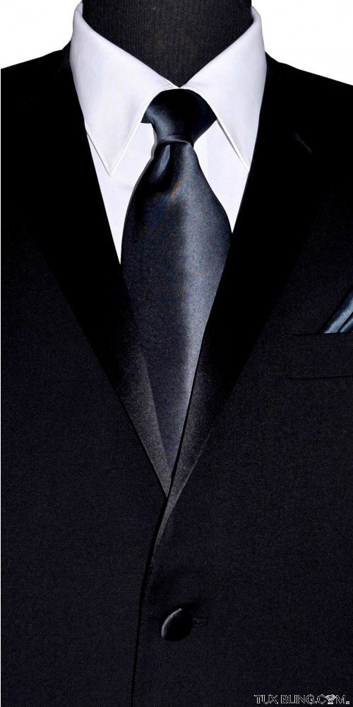 men's charcoal dress tie