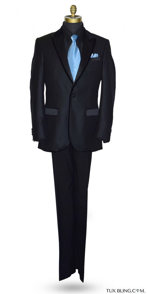 Black Tuxedo with Velvet Trim Ensemble
