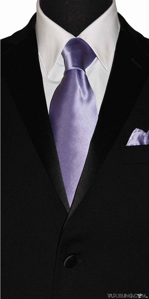 lilac-orchid men's long tie at tuxbling.com