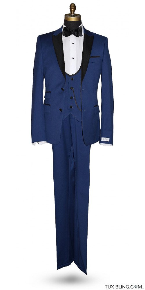 BLUE ULTRA SLIM FIT 3 PIECE TUXEDO