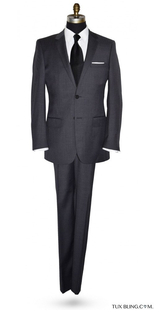 Charcoal Gray Suit - Cashmere and Super Fine Wool