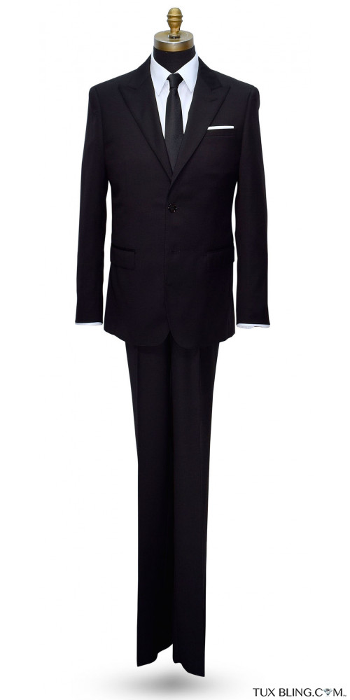 BLACK MENS SUIT COAT AND PANTS ENSEMBLE