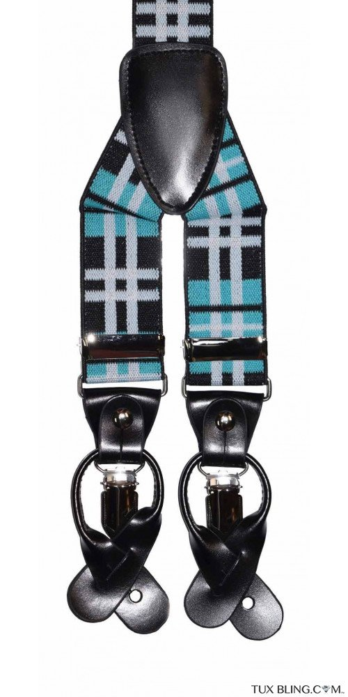 MALIBU-POOL PLAID SUSPENDERS