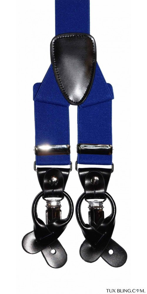 ROYAL-COBALT BLUE SUSPENDERS
