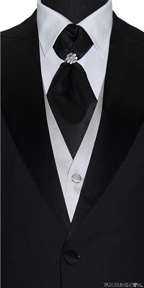 men's black cravat