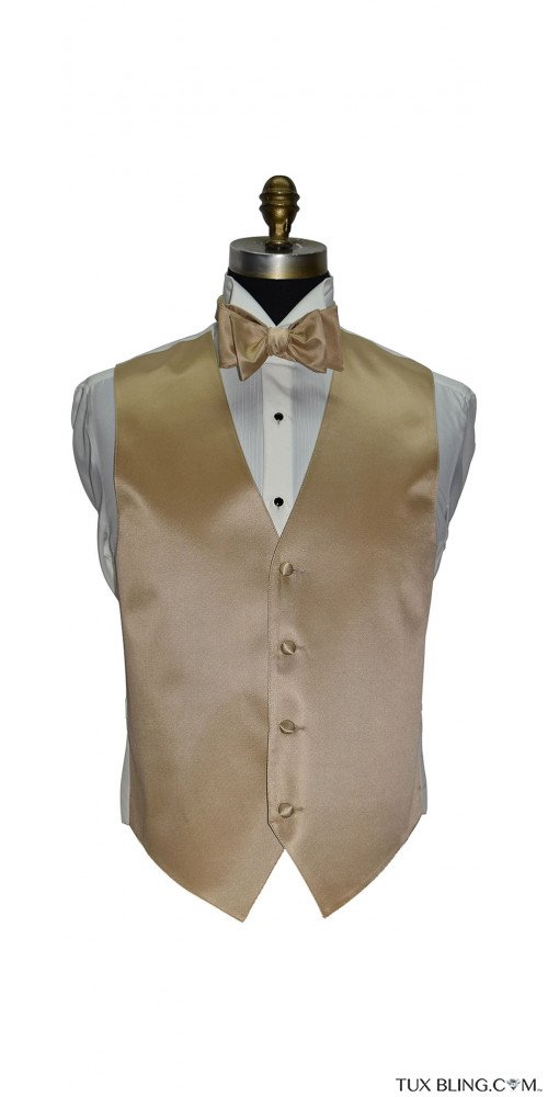 men's and boy's golden vest and golden bowtie by San Miguel Formals