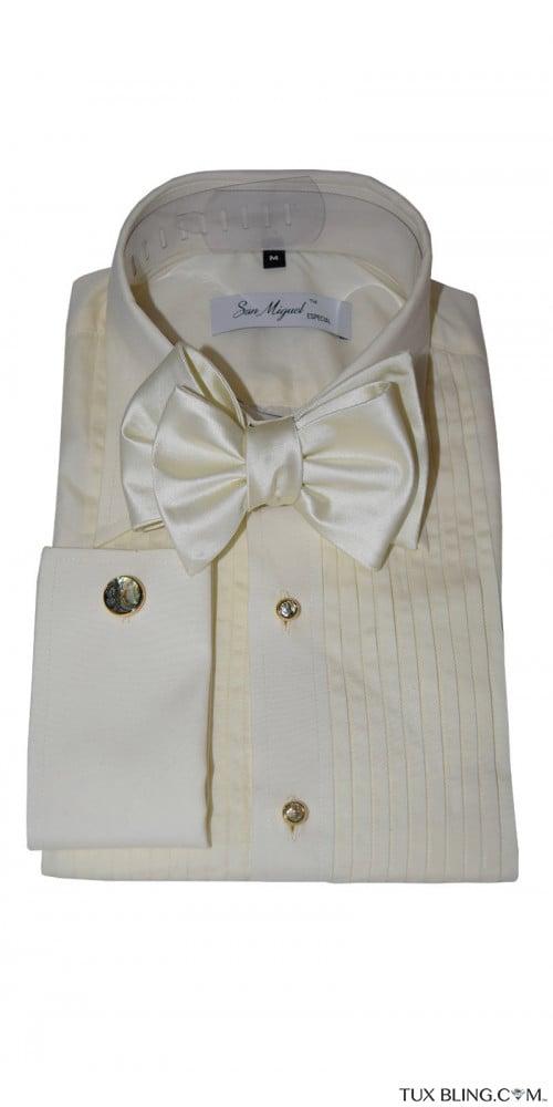 San Miguel off-white tuxedo shirt