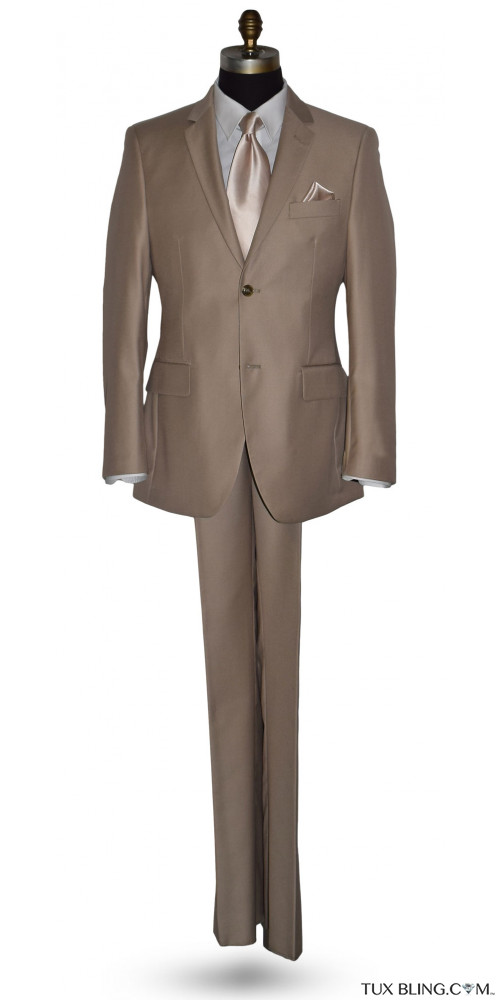 Tan Suit 3 Piece Coat Pants Vest