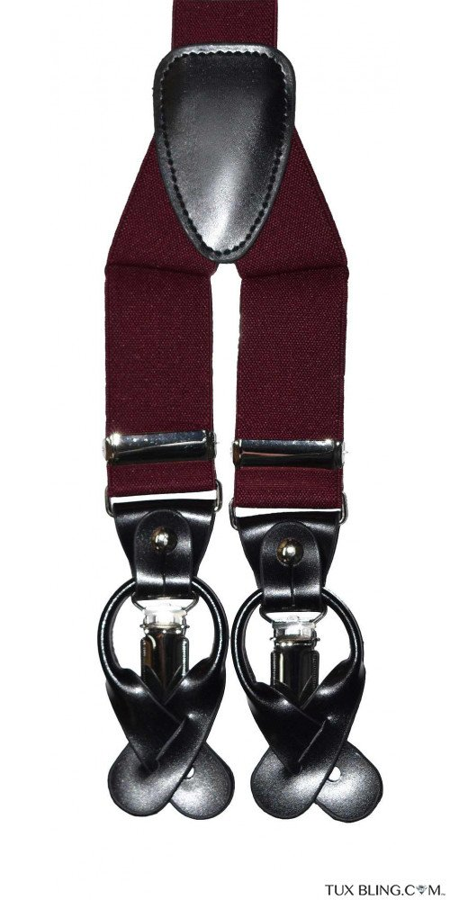 BURGUNDY-WINE SUSPENDERS